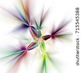 abstract fantastic flower on... | Shutterstock . vector #715545388