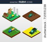 illustration. set of isometric... | Shutterstock . vector #715551238