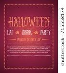 collection stock halloween...   Shutterstock .eps vector #715558174