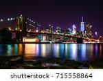 Brooklyn Bridge At Night With...