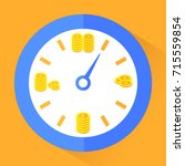 time is money. gold coins in... | Shutterstock .eps vector #715559854