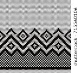knitted geometric seamless... | Shutterstock .eps vector #715560106