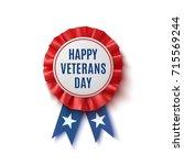 happy veterans day badge.... | Shutterstock .eps vector #715569244