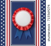 blank badge. realistic ... | Shutterstock .eps vector #715569274