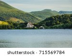 view of lake guery. lake guery... | Shutterstock . vector #715569784