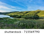 view of lake guery. lake guery... | Shutterstock . vector #715569790