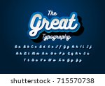 vector of modern stylized font... | Shutterstock .eps vector #715570738