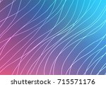 light blue  red vector natural... | Shutterstock .eps vector #715571176