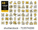 set of linear icons for startup ... | Shutterstock . vector #715574200