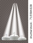 empty vector pedestals for... | Shutterstock .eps vector #715584328