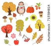 autumn set | Shutterstock .eps vector #715584814