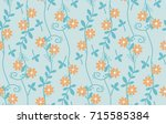 seamless vector floral patterns.... | Shutterstock .eps vector #715585384