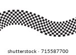 checkered racing flag isolated... | Shutterstock .eps vector #715587700