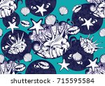 textile fashion african print... | Shutterstock .eps vector #715595584