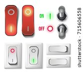 toggle switch set vector....   Shutterstock .eps vector #715606558