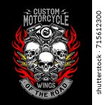 illustration custom motorcycle... | Shutterstock .eps vector #715612300