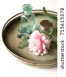 french rose and vintage... | Shutterstock . vector #715615378