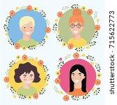 vector cartoon illustration of... | Shutterstock .eps vector #715622773