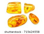 Four Pieces Of Amber With...