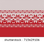 festive sweater design.... | Shutterstock .eps vector #715629106