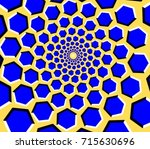 optical illusion   hexagons... | Shutterstock .eps vector #715630696