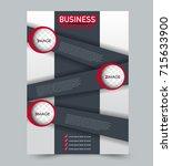 red vector flyer template.... | Shutterstock .eps vector #715633900