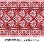 design norway festive sweater... | Shutterstock .eps vector #715634719