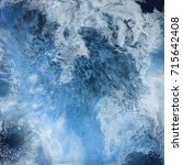 abstract liquid blue background.... | Shutterstock . vector #715642408