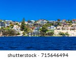 residential area along the river | Shutterstock . vector #715646494