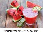 slice of watermelon for... | Shutterstock . vector #715652104