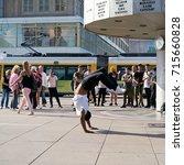 berlin  germany   august 08 ... | Shutterstock . vector #715660828
