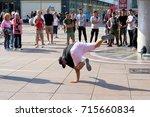 berlin  germany   august 08 ... | Shutterstock . vector #715660834