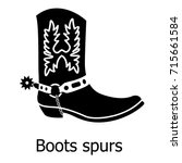 Boot Spurs Icon. Simple...