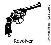 revolver icon. simple... | Shutterstock .eps vector #715662859