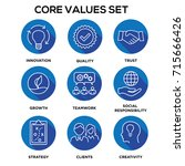 core values   mission ... | Shutterstock .eps vector #715666426