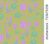 halftone  objects pattern .... | Shutterstock .eps vector #715675258