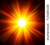 sun light shining from darkness.... | Shutterstock .eps vector #715680100