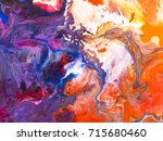 abstract bright hand painted... | Shutterstock . vector #715680460