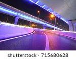 empty road floor with city... | Shutterstock . vector #715680628