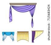 different types of window... | Shutterstock .eps vector #715683424