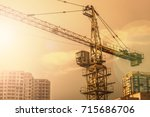 Crane. Construction Crane....