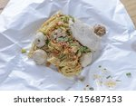 noodles isolated on white... | Shutterstock . vector #715687153