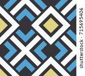 seamless vector geometric color ... | Shutterstock .eps vector #715695406