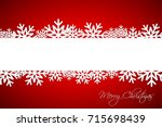 white christmas snowflake on... | Shutterstock .eps vector #715698439