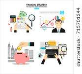 data analysis concept. business ... | Shutterstock .eps vector #715701244