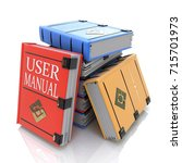 user manual books in the design ... | Shutterstock . vector #715701973