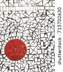 mosaic tile background texture  | Shutterstock . vector #715702630