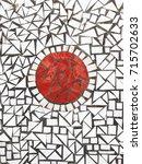 mosaic tile background texture  | Shutterstock . vector #715702633
