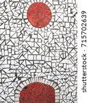 mosaic tile background texture  | Shutterstock . vector #715702639