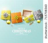 modern design christmas...   Shutterstock .eps vector #715708360